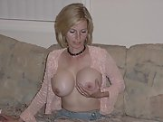 My sexy blonde wife loves to show off her huge tits