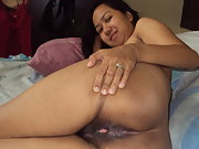 My Wet Hairy Filipna Pussy Wild and Horny And Drizzled with Jizz